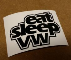 Eat Sleep VW Sticker/Decal